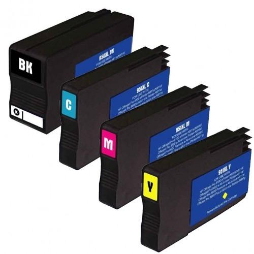 950XL/951XL kompatible Tintenpatronen HP Rainbow Kit cmyk C2P43AE