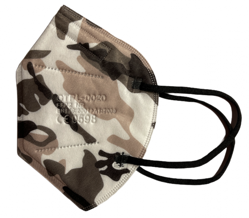 10x FFP2 mit CE Zertifikat Atemschutzmaske in Camouflage