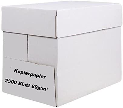 Kopierpapier A4 80g 5x500 Blatt holzfrei weiss