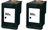 302XL kompatible Tintenpatronen HP schwarz Doppelpack F6U68AE