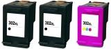 302XL kompatible Tintenpatronen schwarz/color X4D37AE 3er Set 2xBK 1XCMY